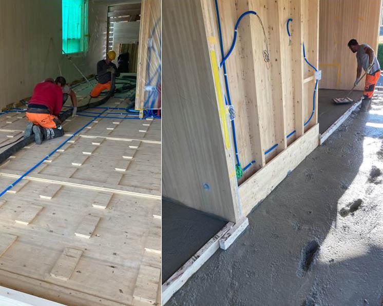 Holzbetonverbunddecke Bauernhaus Ins